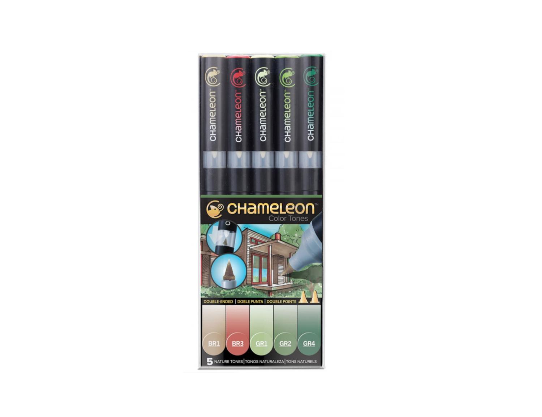 CHAMELEON MARKER BOX NATURE TONES X 5  ARCHITECTE BARREL SKETCH DRAW ART ARTIST 0812751023050 GRAFFITI COMASOUND KARTEL CSK ONLINE