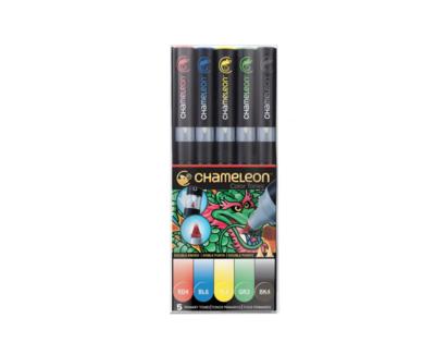 CHAMELEON MARKER BOX PRIMARY TONES X 5  ARCHITECTE BARREL SKETCH DRAW ART ARTIST 0182021000686 GRAFFITI COMASOUND KARTEL CSK ONLINE