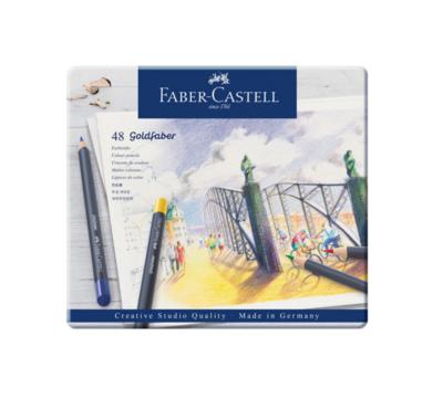 FABER CASTELL 48 GOLDFABER AQUA PENCILS CRAYON AQUARELLABLE COULEUR ART ARTISTE DESSIN DRAW 4005401146483 COMASOUND KARTEL CSK ONLINE