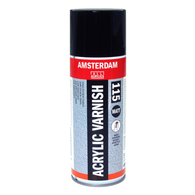 AMSTERDAM ACRYLIC VARNISH 115 MATT FOR ACRYLIC & OIL PROTECTION CANVAS TOILE 400 ML SPRAY CAN AEROSOL COULEUR ART ARTISTE DESSIN DRAW 8712079410827 COMASOUND KARTEL CSK ONLINE