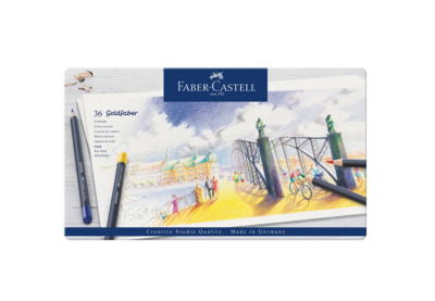 FABER CASTELL 36 GOLDFABER  PENCILS CRAYON COULEUR ART ARTISTE DESSIN DRAW 4005401147367 COMASOUND KARTEL CSK ONLINE