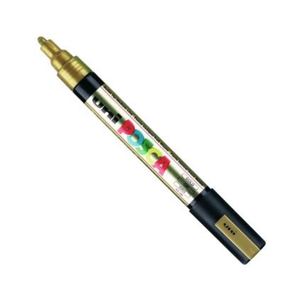 UNI POSCA PC-5M GOLD MARKER ART GRAFFITI 4902778916261 SKETCH DRAW ARTISTE TAG SHOP PRO COMASOUND KARTEL CSK ONLINE SHOP DECORATION
