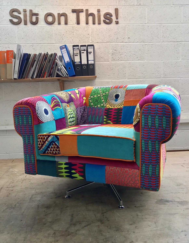 Afrotechnicolour Patchwork Chair