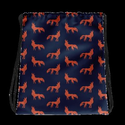Wild Foxes Drawstring bag