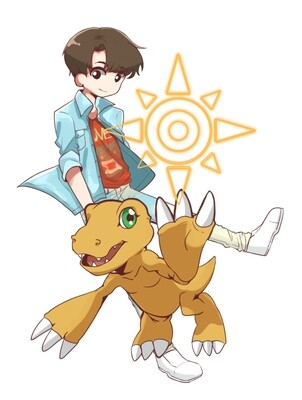 Jungkook - Crest of Courage [BTS x Digimon Sticker]