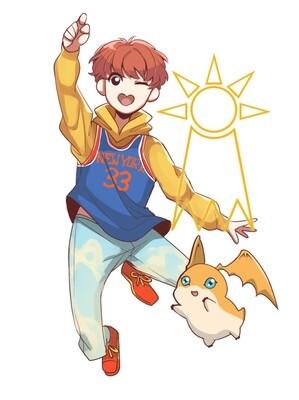 Hoseok - Crest of Hope [BTS x Digimon Sticker]