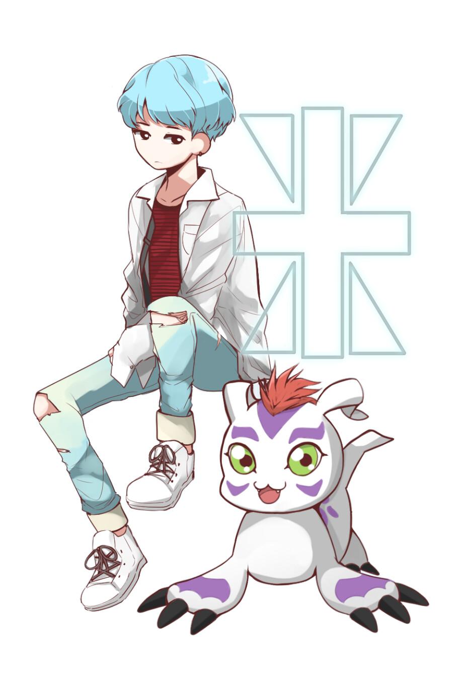 Yoongi - Crest of Reliability [BTS x Digimon Sticker]