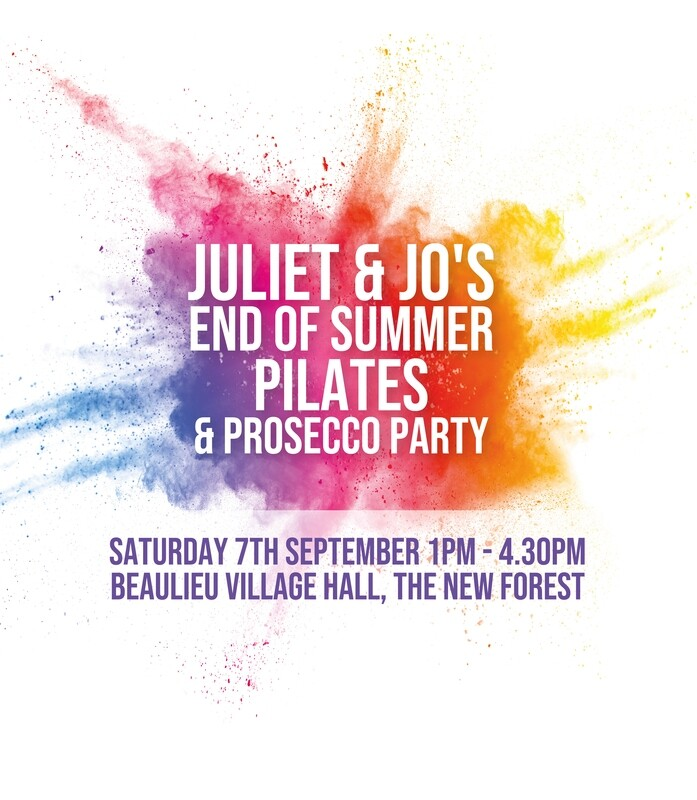 Juliet & Jo's End of Summer Pilates & Prosecco Party
