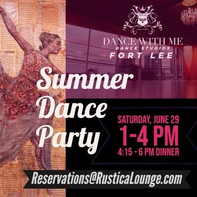 Summer Dance Party 6/29 Option B w/ Dinner