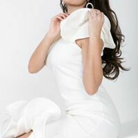 Beautiful One Shoulder Ruffled Midi Dress
