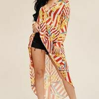 Adorable Sheer Pull Over Hi Lo Blouse
