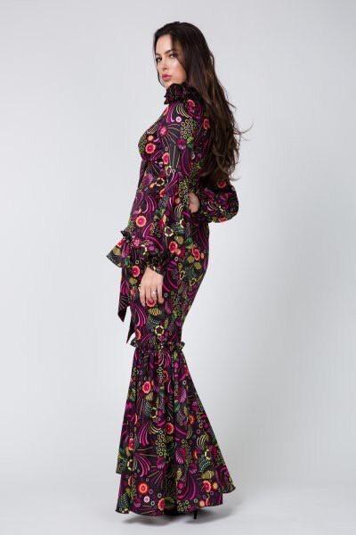 Black Multicolored Maxi Dress