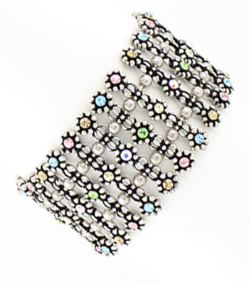 Filigree Crystal Stretch Bracelet