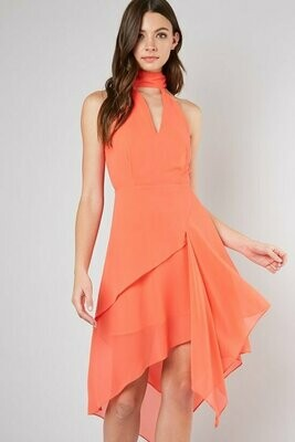 CASCADE CHIFFON DRESS
