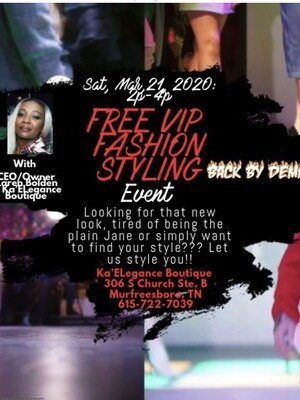 FREE VIP FASHION STYLING EVENT