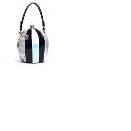 Black and Iridescent Oblong Shape Purse