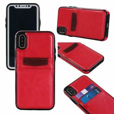 iPhone Xs Max Leather Style Credit Card Case