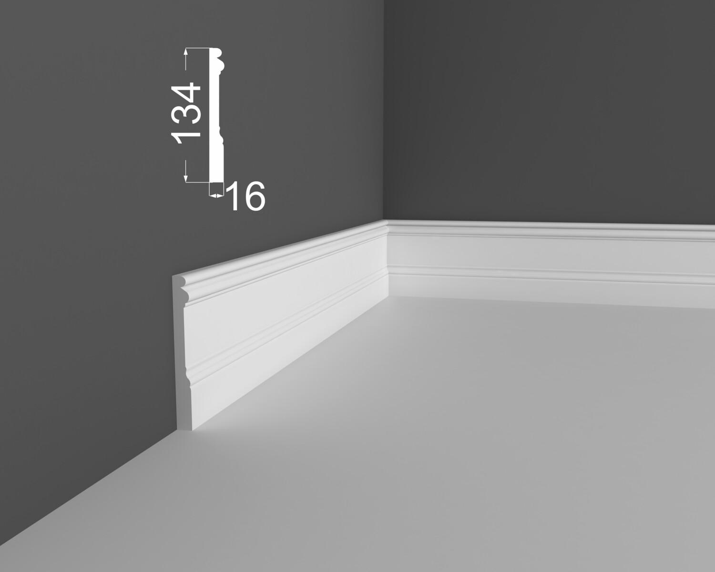 Плинтус напольный DeArtio под покраску P15.134.16