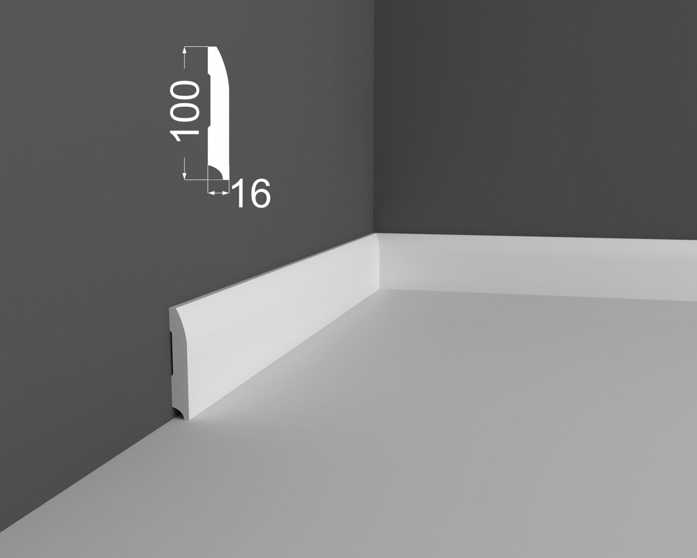 Плинтус напольный DeArtio под покраску P20.100.16