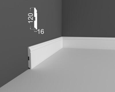 Плинтус напольный DeArtio под покраску Р4.120.16