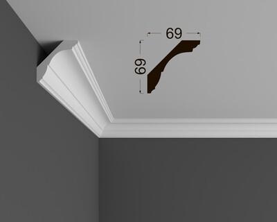 Потолочный плинтус под покраску K 1.97.20