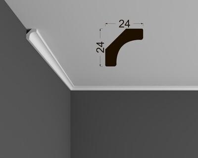 Потолочный плинтус под покраску К 2.33.12