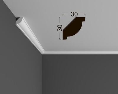 Потолочный плинтус под покраску К 3.42.16