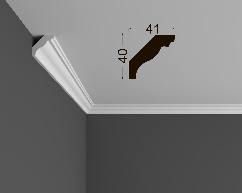 Потолочный плинтус под покраску К 4.60.16