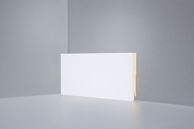 W06 - 100 мм белый напольный плинтус МДФ Deartio