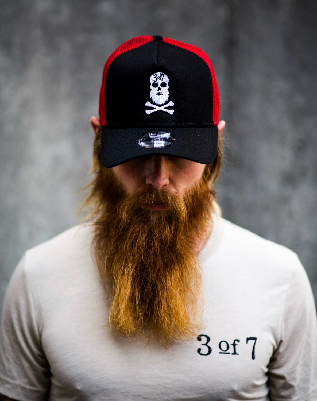 Beard Skull and Cross Bones Trucker Hat