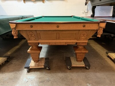 9' Brunswick Manhattan Pool Table - Circa 1884-1888