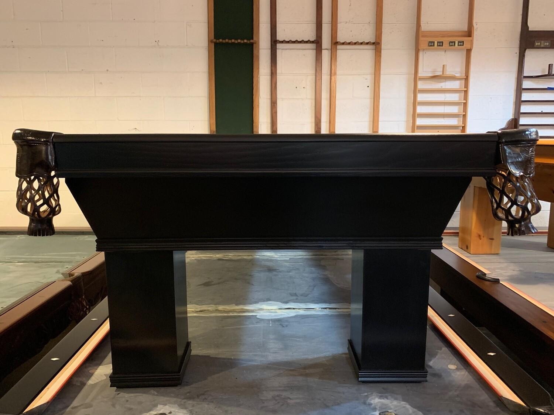 8' Black Ventana Pool Table