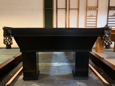 8' Black Ventana Pool Table