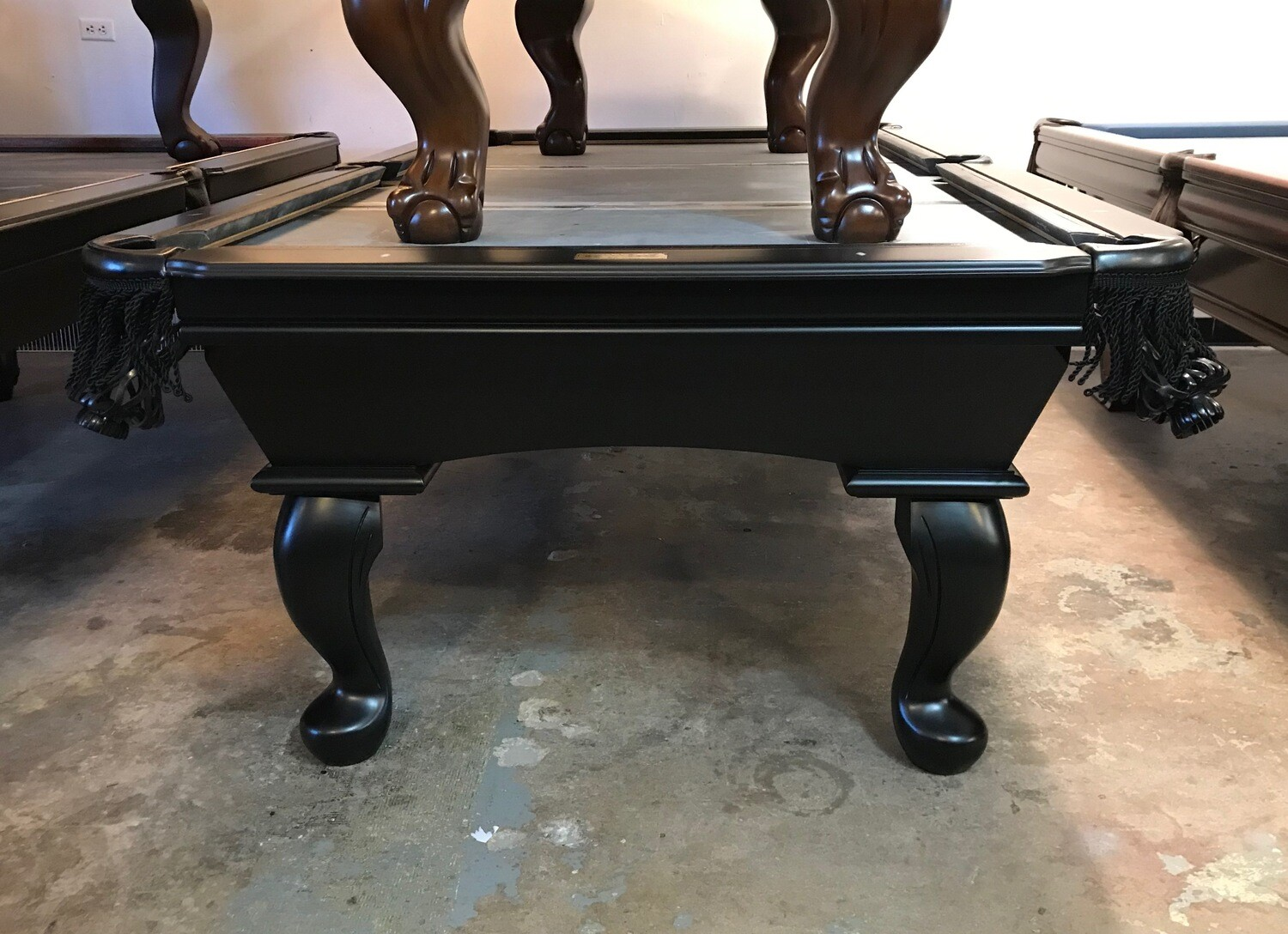 8' Black Connelly Prescott Pool Table