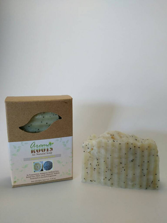 Lemon Poppy Seed Soap 700358647314