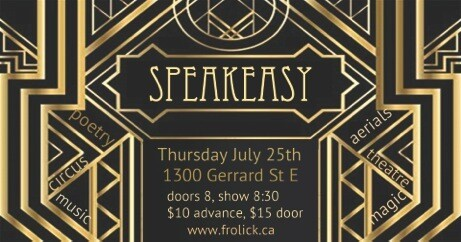Admin 1 Advance Ticket Pricing July 25th Speakeasy with Frolick