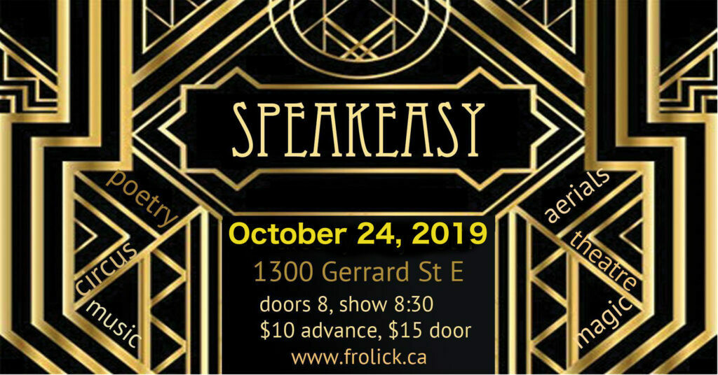 Admin 1 Advance Ticket Pricing Oct 24th Speakeasy with Frolick