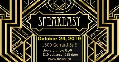 Admit 1 Advance Ticket Pricing Oct 24th Speakeasy with Frolick
