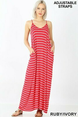 Red Stripe Maxi