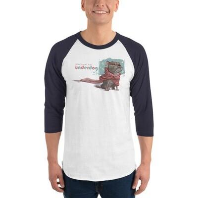 UNDERDOG 3/4 sleeve raglan shirt