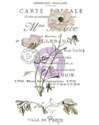 Carte Postal Decor Transfer