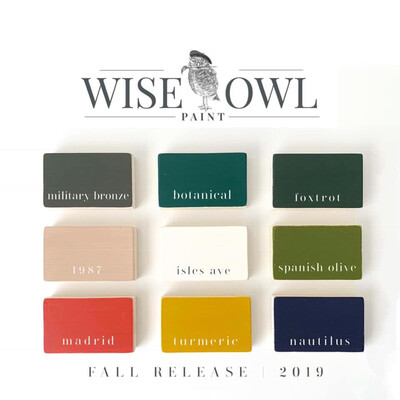 Wise Owl Fall Release Colors - Pint