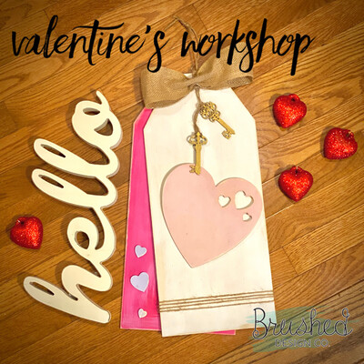 Valentine's Door Tag Workshop