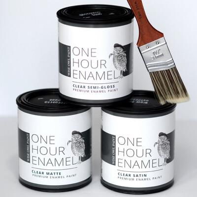 One Hour Enamel Clear (Gallon - 128oz)