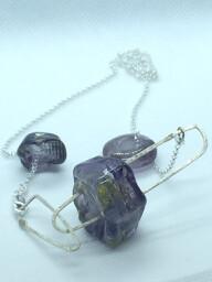 3 purple emubead necklace