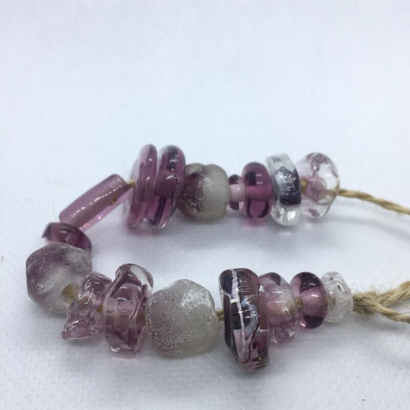 strand of amethyst beads