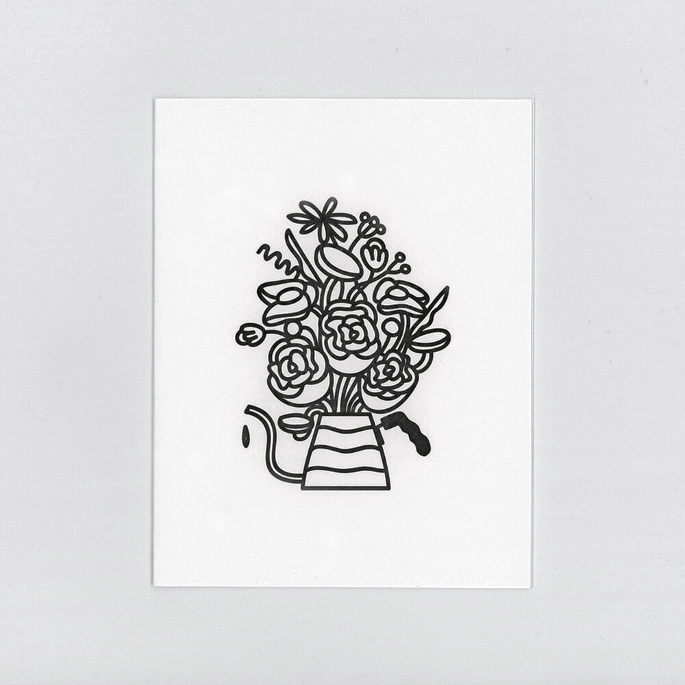 'Bouquet' Letterpress Card (Envelope included)