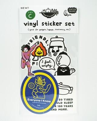 Vinyl Sticker Set C (6pcs)