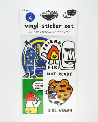 Vinyl Sticker Set A (6pcs)