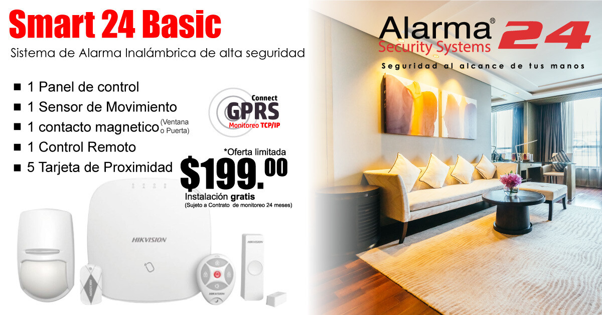 Sistema de alarma inalámbrico Smart24 Basic